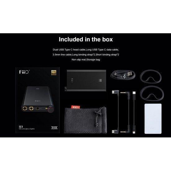 FiiO Q3 nešiojamas ausinių stiprintuvas su USB DAC keitikliu