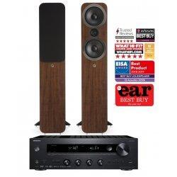 Onkyo TX-8270 stereo stiprintuvas su Q Acoustics Q3050i kolonėlėmis