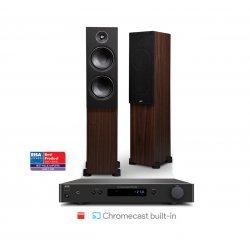 NAD C338 stereo stiprintuvas su PSB Alpha T20 kolonėlėmis