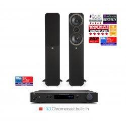 NAD C338 stereo stiprintuvas su Q Acoustics Q3050i kolonėlėmis
