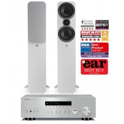 Yamaha R-N303D stereo stiprintuvas su Q Acoustics Q3050i kolonėlėmis