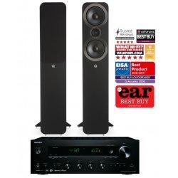 Onkyo TX-8250 stereo stiprintuvas su Q Acoustics Q3050i kolonėlėmis