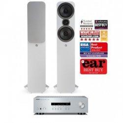 Yamaha R-N202D stereo stiprintuvas su Q Acoustics Q3050i kolonėlėmis