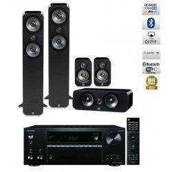 Onkyo TX-NR686 namų kino stiprintuvas su Q Acoustics Q3050 5.0 kolonėlių komplektu