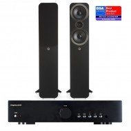 Exposure 1010 stereo stiprintuvas su Q Acoustics Q3050i kolonėlėmis
